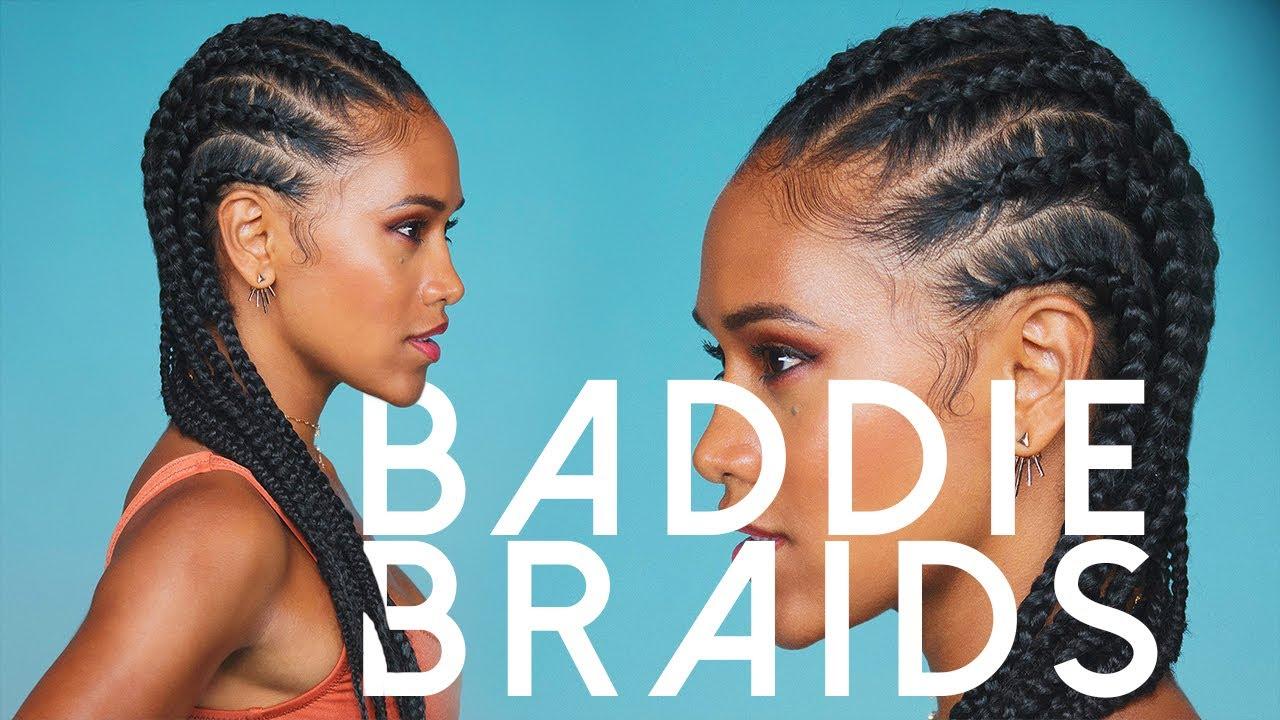How to Cornrow Braid Your Hair - YouTube