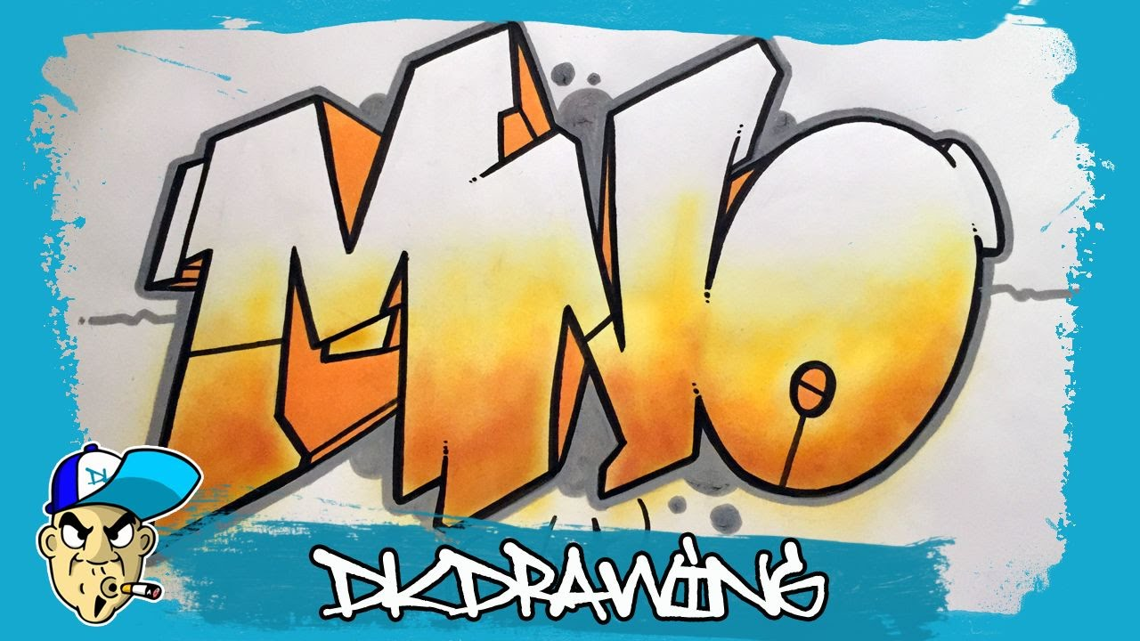 how to draw the letter m in graffiti
