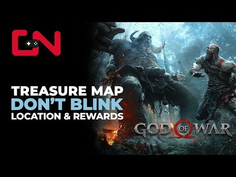 God of War Don't Blink Treasure Map Location