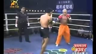 Шаолинь против Муайтай, интересный бой,