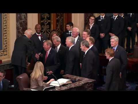 Senator Isakson Takes Oath Of Office, Makes Georgia History