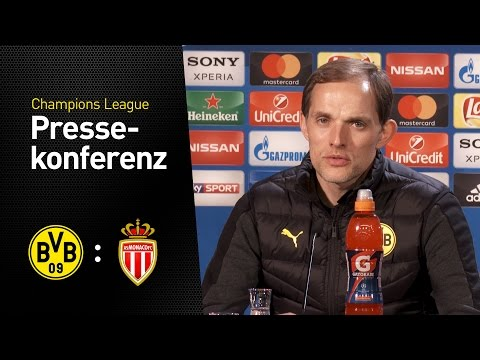 PK Thomas Tuchel: Eine ganz besondere Herausforderung | BVB - AS Monaco 2:3