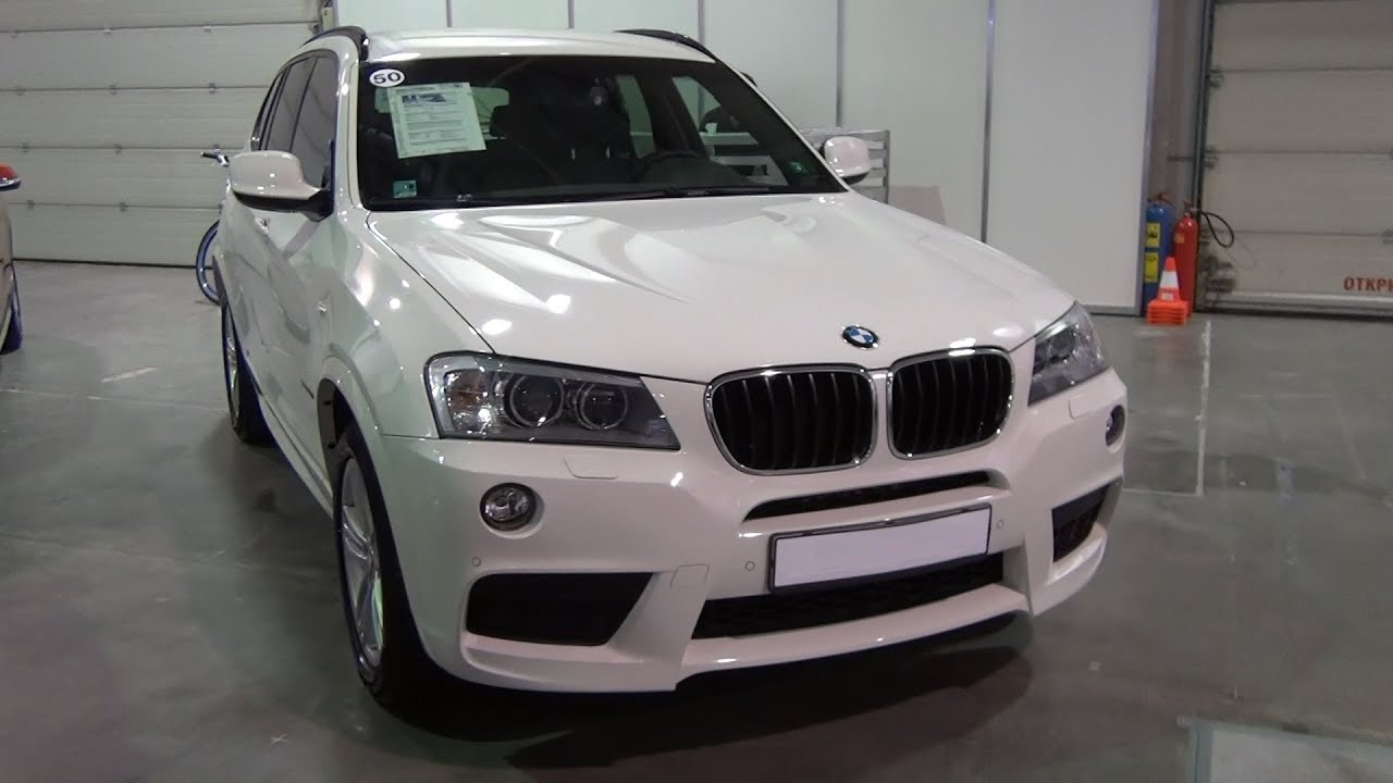 bmw x3 xdrive 20d 2013 white exterior and interior in 3d 4k uhd youtube. Black Bedroom Furniture Sets. Home Design Ideas