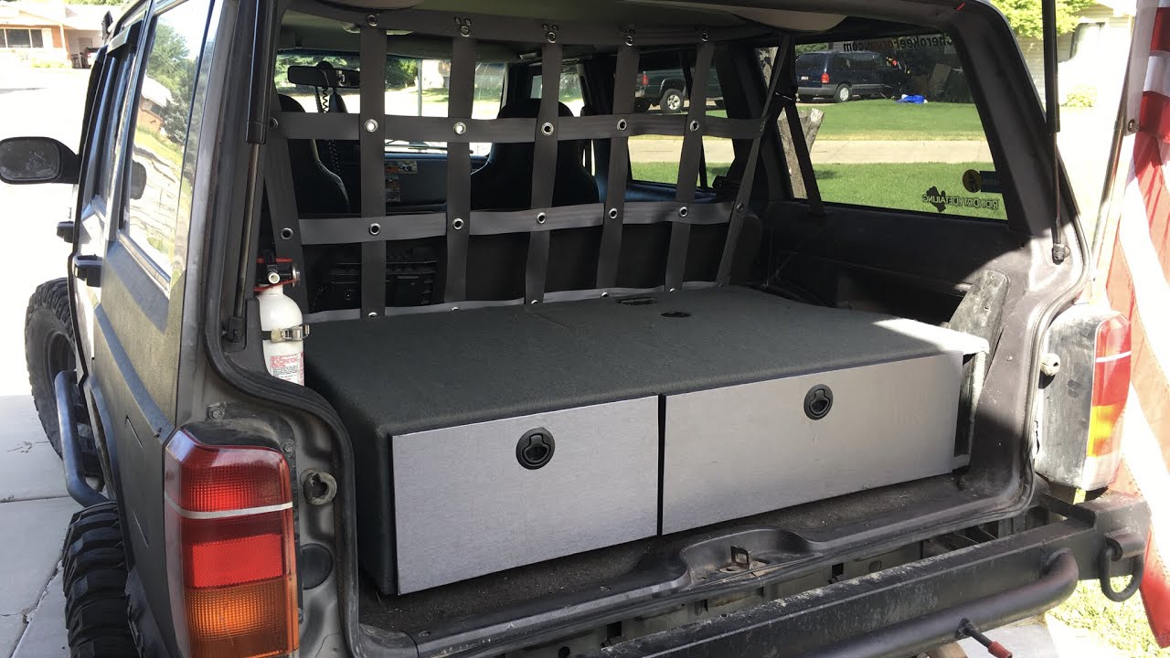 Jeep Cherokee XJ storage drawers design and details - YouTube