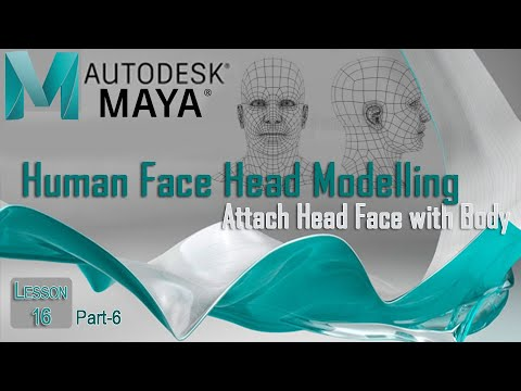 Maya Tutorial: Human Character Modelling a Head From Box Part-6 in Urdu / Hindi