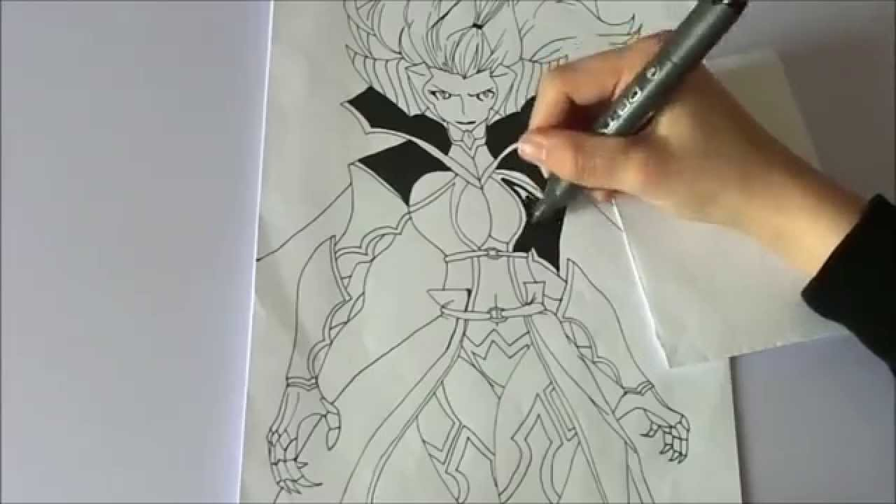 Speed Drawing Mirajane Strauss Youtube Mirajane draw in face, hair and body start inking mirajane, almost done youtube