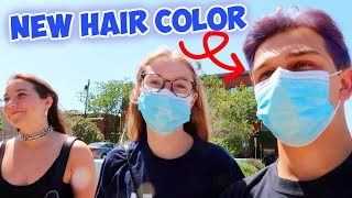 COLORING MY HAIR FOR THE FIRST TIME!