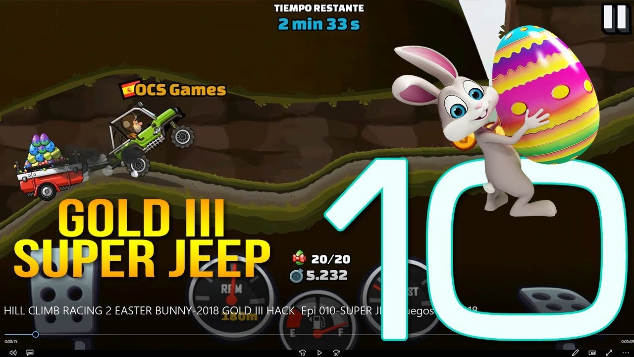 Hill Climb Racing 2 Easter Bunny 2018 Gold Iii Epi 010 Super Jeep