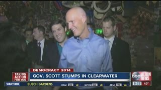 Candidates for Florida governor, Charlie Crist and Rick Scott make final push for votes