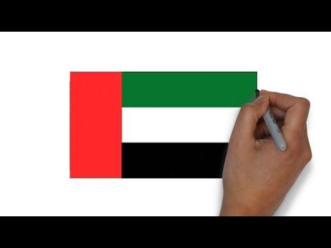 HOW TO DRAW UNITED ARAB EMIRATES UAE FLAG