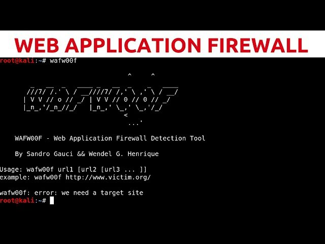 Web App Penetration Testing - #4 - Web Application Firewall Detection With WAFW00F