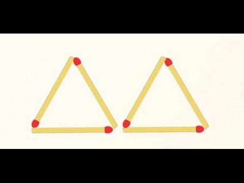 Как из 3 спичек сделать 4 спички 191
