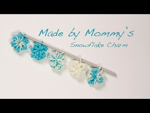 Easy Flower or Snowflake Charm Without the Rainbow Loom
