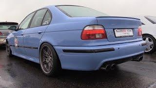 BMW M5 E39 w/ Supersprint Exhaust - LOUD Redline REVS & Drag Racing!