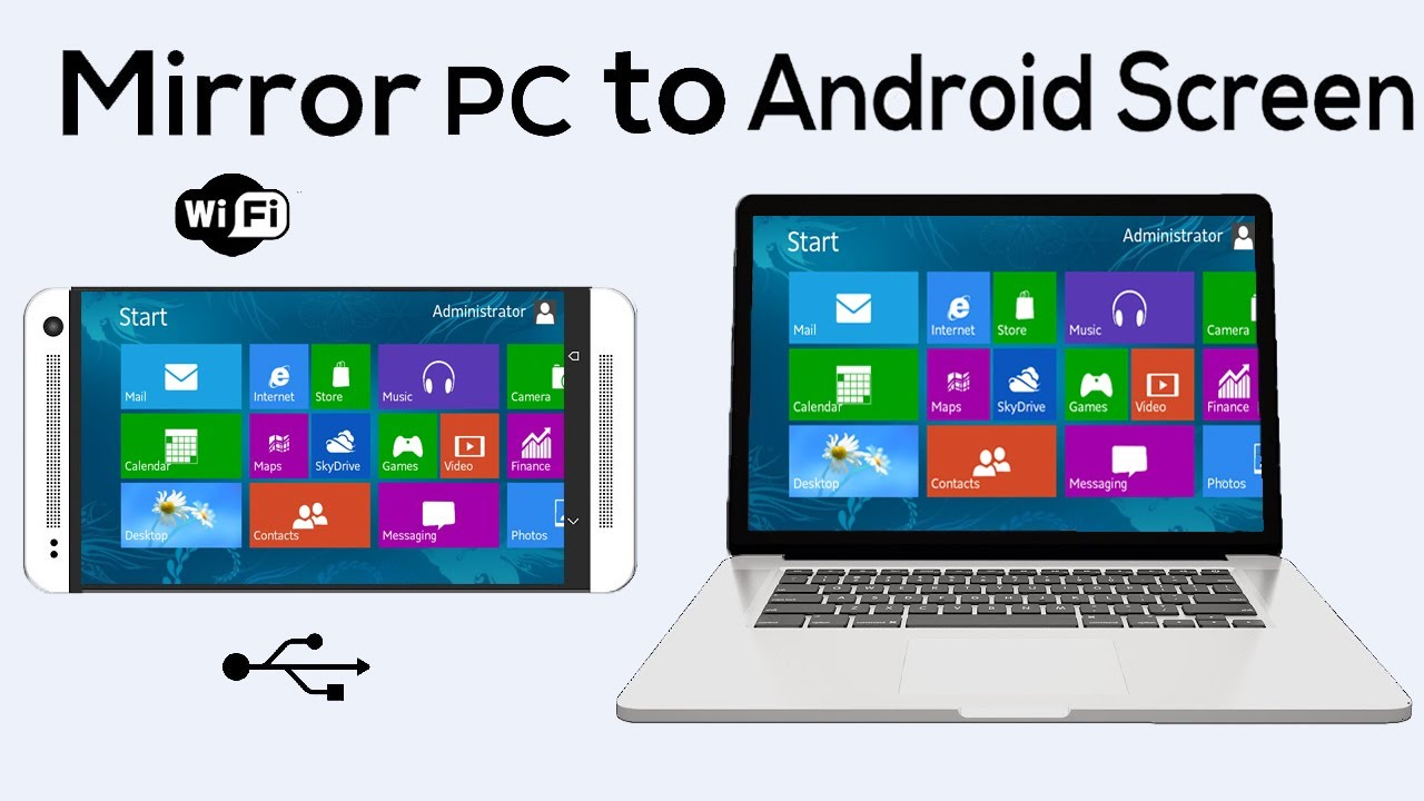 How to mirror or display your pc screen on android phone for Mirror your phone to pc