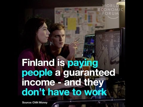 Finland is paying people a guaranteed income - and they don't have to work