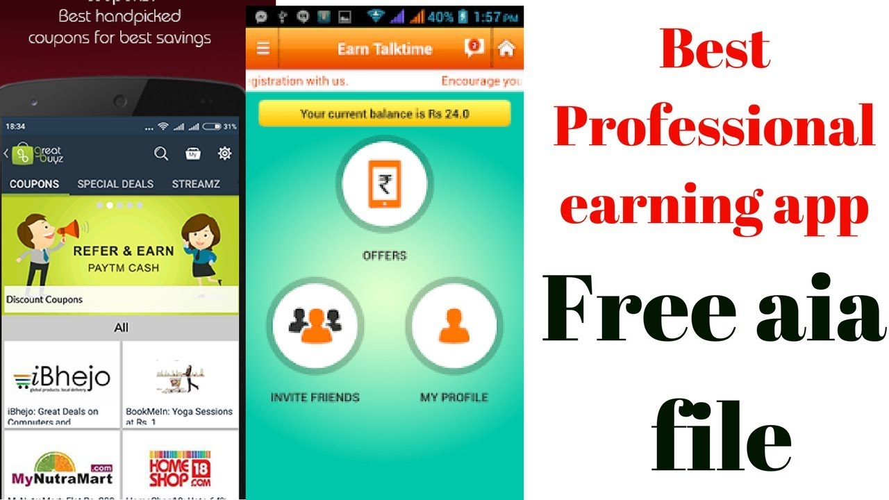 free high quality earning app aia file