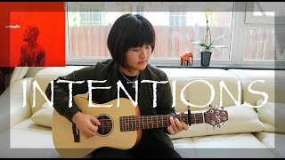Intentions - Justin Bieber ft Quavo fingerstyle guitar free tabs
