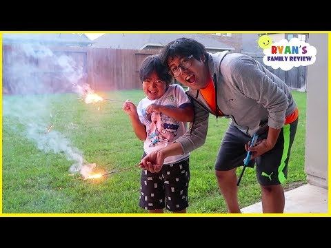 4th of July Fireworks Family Fun Celebration with Ryan's Family Review
