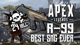 Apex Legends - 24 KILL !! มหาเทพ SMG R-99 รูดหน้าสั่น | สุ่มทีมไปแบก