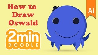 how to draw oswald in 2 minutes | Adobe Illustrator CC | 2 minutes Doodle