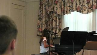 Layne performing Adele
