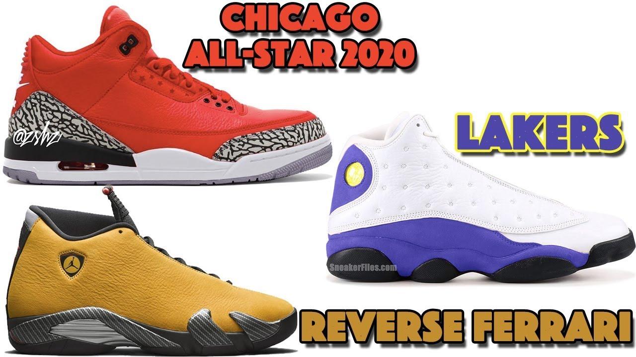 new style b04b1 1e9e7 AIR JORDAN 3 CHICAGO ALL-STAR 2020, JORDAN 13 LAKERS, JORDAN 14 REVERSE  FERRARI AND MORE
