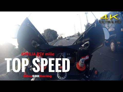 Aprilia RSV mille TOP SPEED [ 4K ]