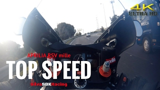 Aprilia RSV mille TOP SPEED [ 4K ]