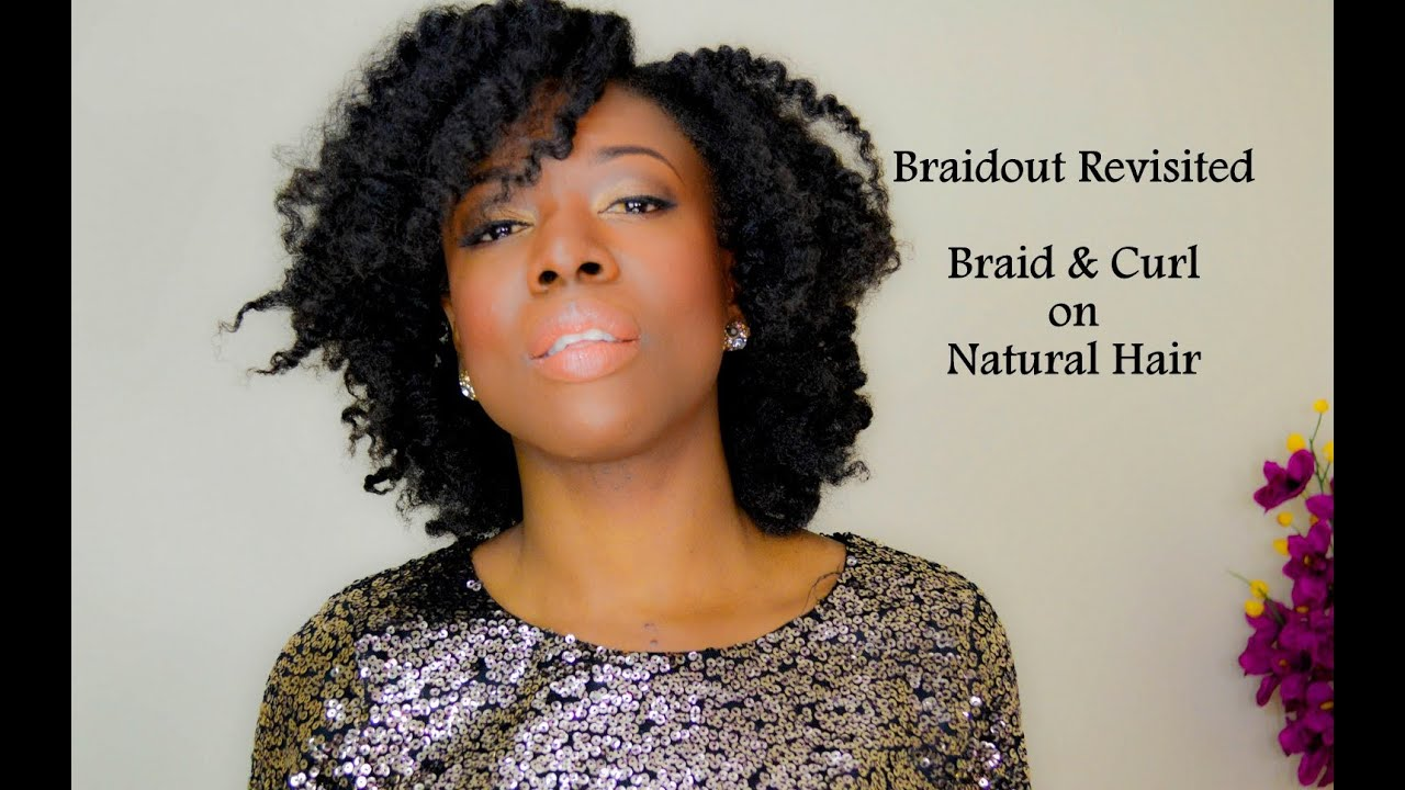 4c Hairstyles Braids: Fluffy Braid And Curl On 4B/4C Hair