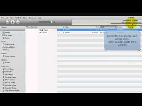 how-to-convert-songs-to-mp3-format-&-convert-video-(itunes)
