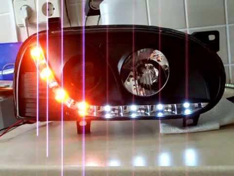 golf 3 sonar devil eye mit blinker youtube. Black Bedroom Furniture Sets. Home Design Ideas