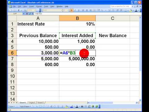 How To    Use Absolute Cell Reference in Excel 2003