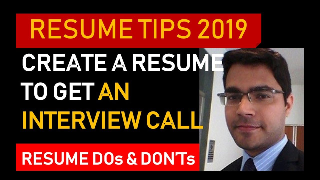 how a resume should look    resume tips and tricks 2019