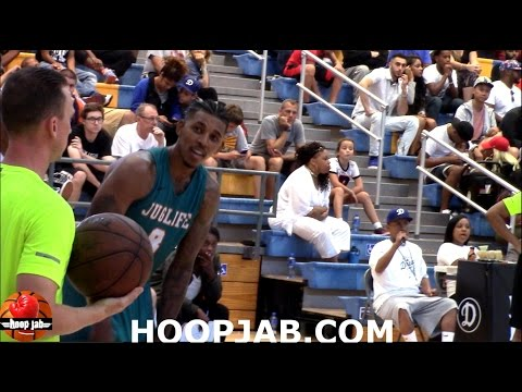 "Nick Young ""Swaggy P"" 8-13-16 Drew League Playoff Highlights. HoopJab"