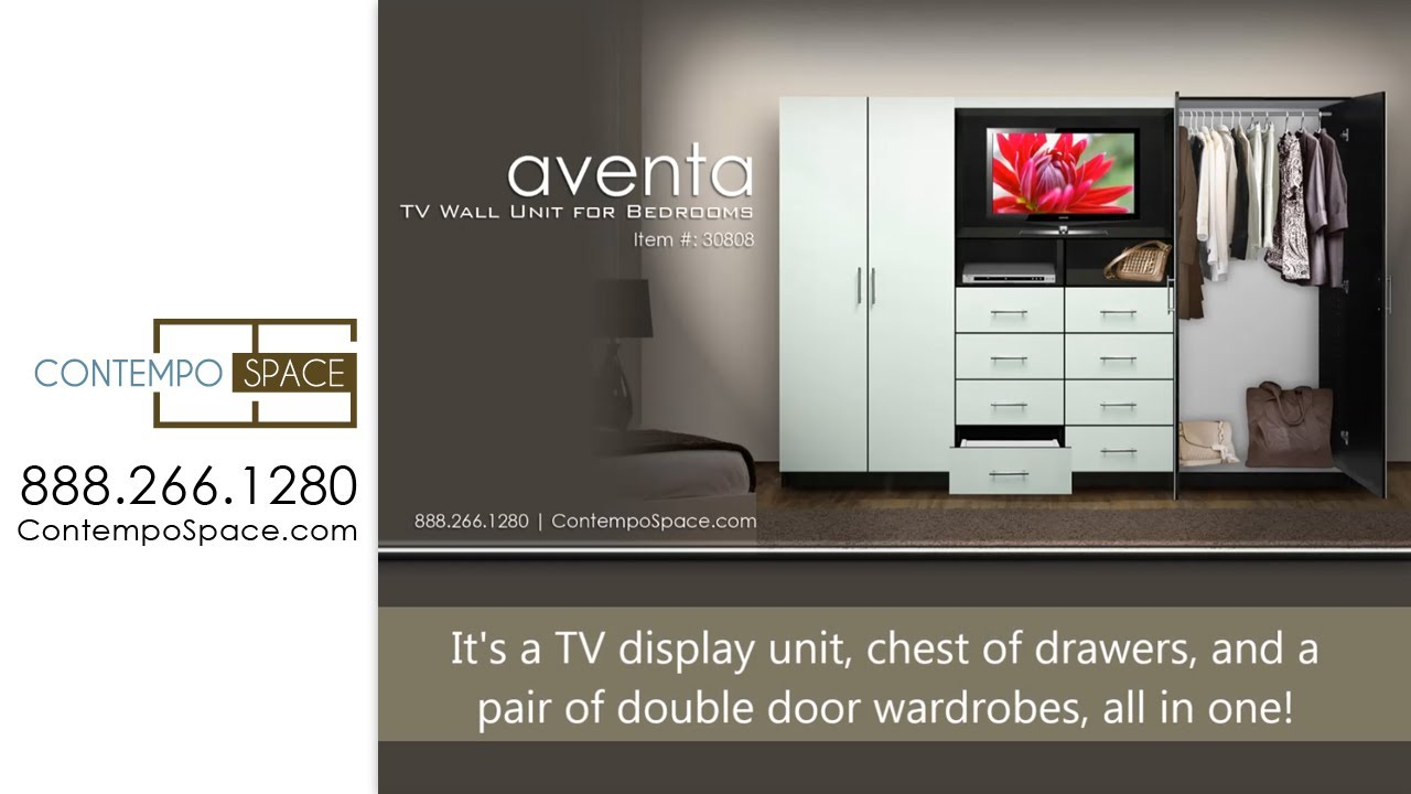 Aventa TV Wall Unit for Bedrooms | Item #: 30808