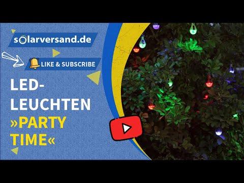 Esotec Solar Led Leuchten Partytime Youtube
