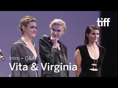 VITA & VIRGINIA Cast And Crew Q&A   TIFF 2018