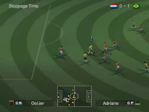 Pro Evolution Soccer 6(PES 6): Brazil vs Netherlands Gameplay