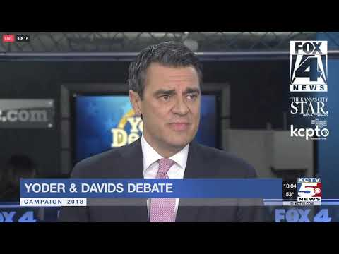 Kevin Yoder, Sharice Davids debate concludes one week from Election Day