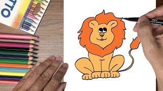 Dạy bé tập vẽ con sư tử