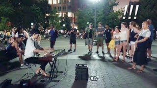 People Were Shocked - A Korean Guy Playing Street Piano in Washington Square Park
