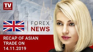InstaForex tv news: 14.11.2019: USD shows mixed dynamics; USD/JPY and AUD/USD likely to dip