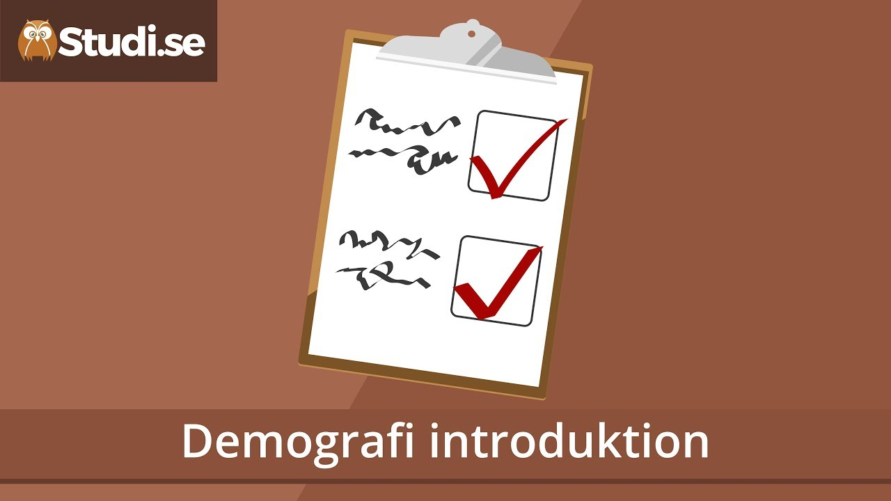 Demografi introduktion (Geografi) - Studi.se