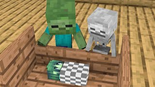 Monster School : Baby Skeleton and Baby Zombie Life Story - Minecraft Animation