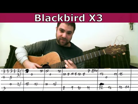 Fingerstyle Tutorial: Blackbird (3 Versions) - Guitar Lesson w/ TAB