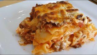 Homemade Lasagna without Ricotta cheese | Tina's EZ recipes | Episode 28