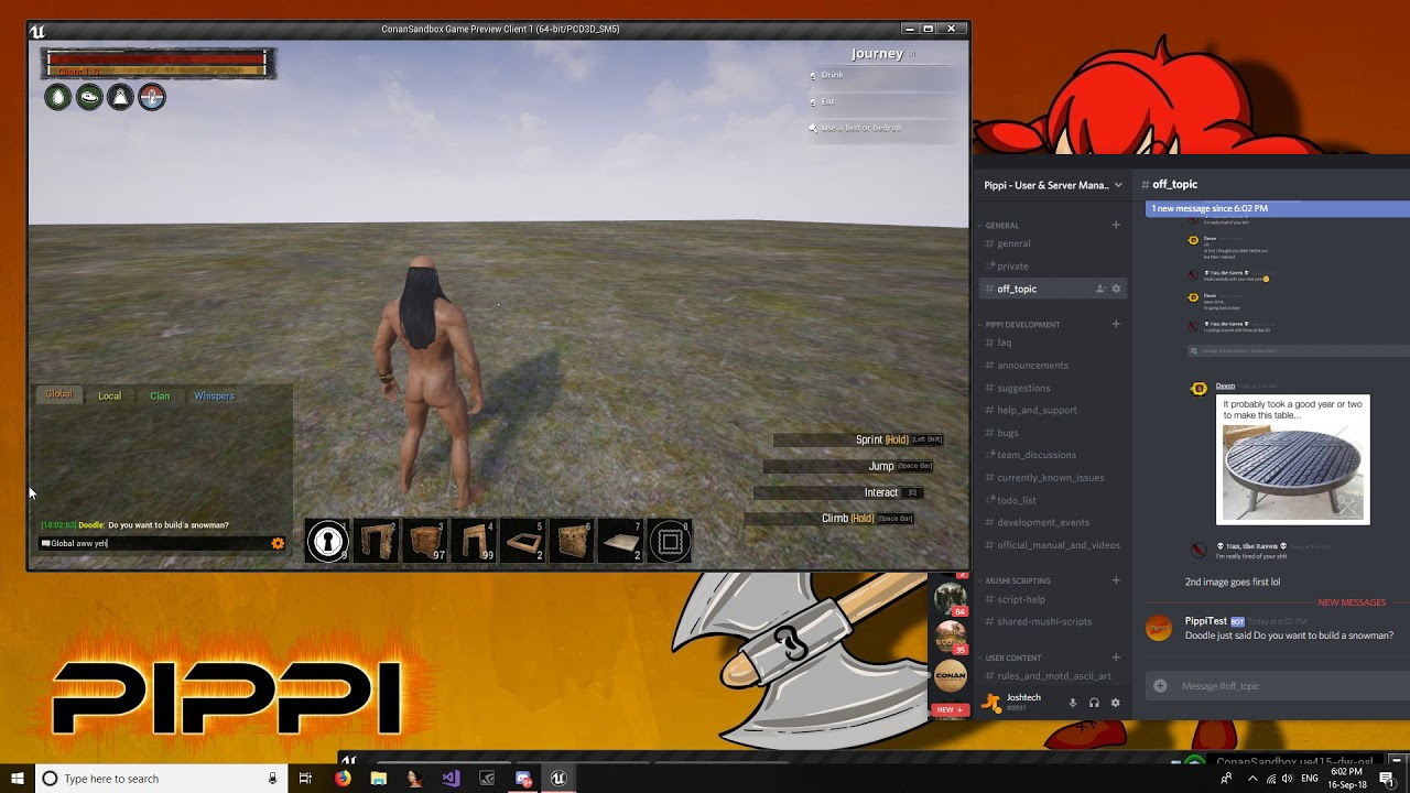 Conan Exiles - Pippi - Discord Integration Test #1