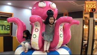 대왕문어 제대로 놀아보자! 키즈카페 탐방기 l 헬로방방 키즈카페 l indoor playground for children l kids cafe