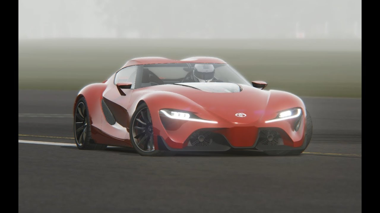 Toyota Ft 1 Concept At Top Gear Testing Youtube